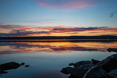 Photograph - March Dawn At Esopus Meadows I by Jeff Severson