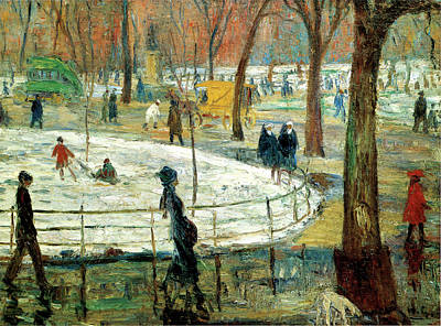 Photograph - March Day Washington Square by William Glackens