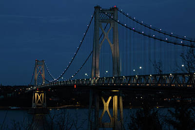 Photograph - March Evening At The Mid-hudson Bridge by Jeff Severson