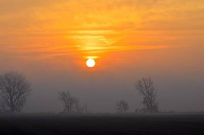 Photograph - March Fog Rise by Bonfire Photography