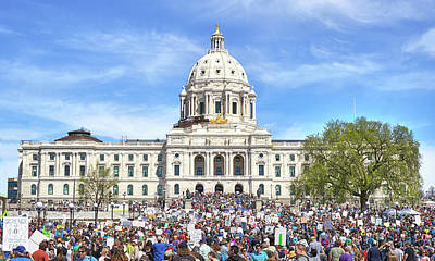 Photograph - March For Science  Minnesota 2017 by Jim Hughes