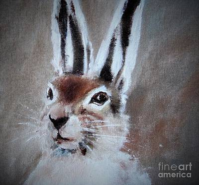 March Hare Painting - March Hare In Colour by Angela Cartner