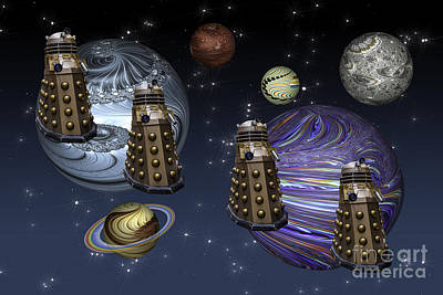 Photograph - March Of The Daleks by Steve Purnell