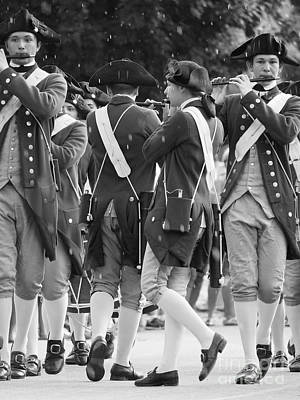 Marching Band Photograph - March Of The Fifes And Drums by Rachel Morrison