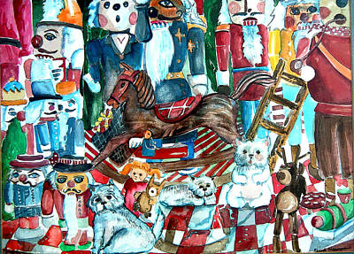 Santa Claus Mixed Media - March Of The Wooden Soldiers by Mindy Newman