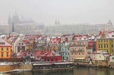 Photograph - March Snowfall. Old Prague by Jenny Rainbow