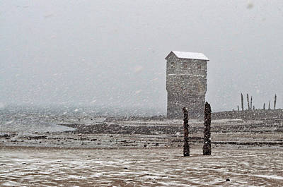 Photograph - March Snowstorm - Sandy Beach by Cathy Mahnke