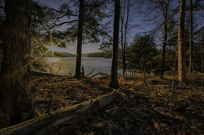 March Sunrise At Millsite Lake Art Print
