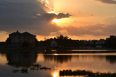 Photograph - March Sunset Over Lake City, Florida by rd Erickson