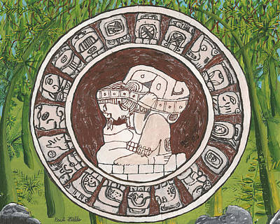 Painting - March  The Mayan Calendar by Paul Fields