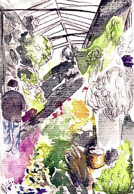 Painting - Marche Aux Fleurs by D Renee Wilson