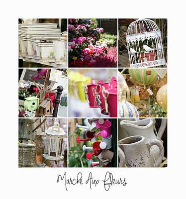 Photograph - Marche Aux Fleurs, Paris by Margaret Goodwin