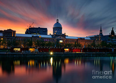 Old Montreal Photograph - Marche Bonsecours And Old Port Montreal by Colin Woods