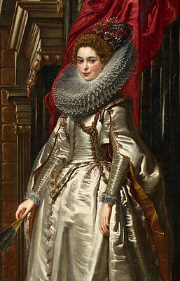 Rubens Painting - Marchesa Brigida Spinola Doria by Peter Paul Rubens