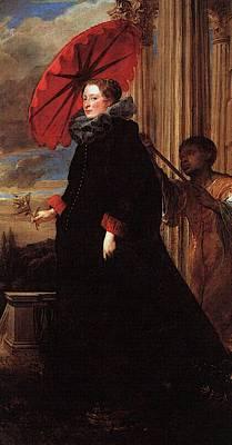 Digital Art - Marchesa Elena Grimaldi  by Sir Antony van Dyck