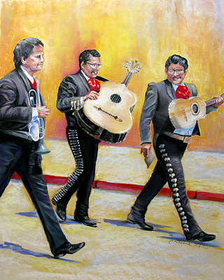 Pastel - Marching Mariachi by Carole Haslock