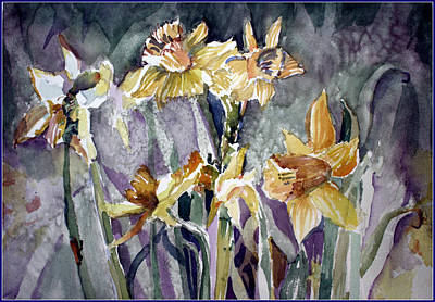 Spring Bulbs Painting - March's First Blossoms by Mindy Newman