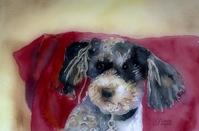 Dog Rescue Painting - Marci by Arline Wagner