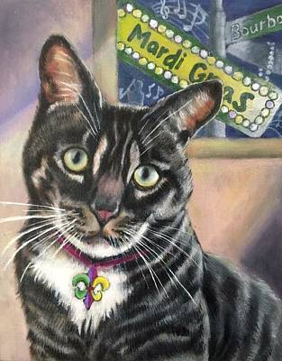 Painting - Marci Grad Kitty by FayBecca Designs