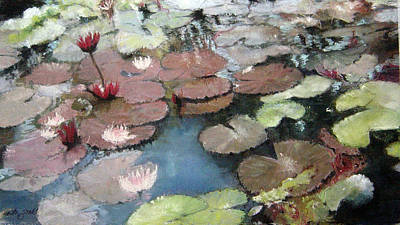 Pastel - Marcia's Lillies by Anita Stoll