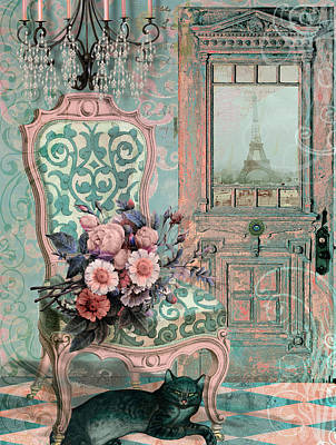 Marcie In Paris Art Print by Mindy Sommers