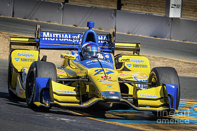 Indycar Photograph - Marco Andretti by Webb Canepa