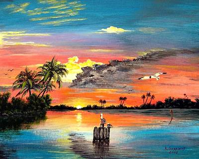 Painting - Marco Island Study by Riley Geddings