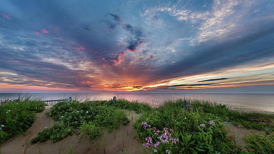 Wellfleet Photograph - Marconi Station Sunrise by Bill Wakeley