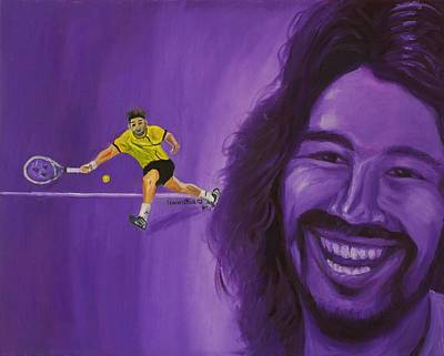 Painting - Marcos Baghdatis by Quwatha Valentine