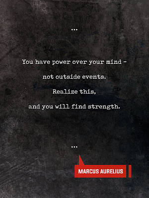 Mixed Media Royalty Free Images - Marcus Aurelius Quotes - Literary Quotes - Book Lover Gifts - Typewriter Quotes Royalty-Free Image by Studio Grafiikka