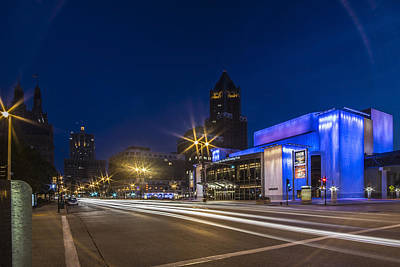 Milwaukee Skyline Photograph - Center For Performing Arts Building At Dusk In Milwaukee by Sven Brogren