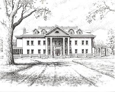 Marcus Daly Mansion Hamilton Montana Art Print by Kevin Heaney