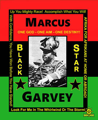 Digital Art - Marcus Garvey by Adenike AmenRa