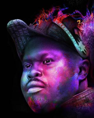 Digital Art - Marcus Garvey Portrait by AC Williams