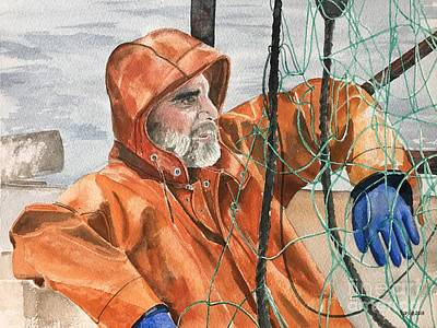 Flounder Painting - Marcus by Kathleen Staab