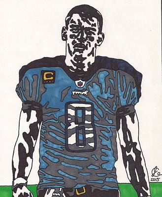 Tennessee Drawing - Marcus Mariota Titans Edition by Jeremiah Colley