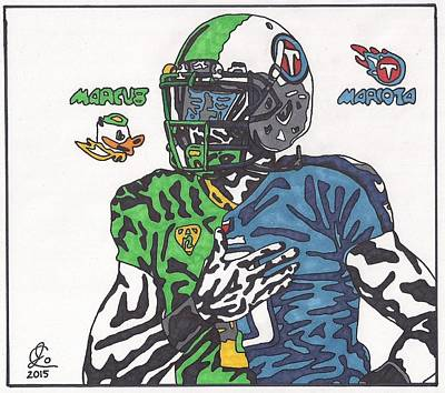 Tennessee Drawing - Marcus Mariota Crossover by Jeremiah Colley