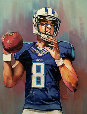 Marcus Mariota Rookie Year - Tennessee Titans Print by Michael Pattison