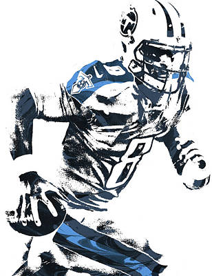 Mixed Media - Marcus Mariota Tennesse Titans Pixel Art 2 by Joe Hamilton