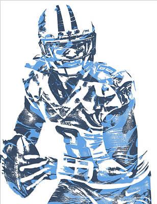 Marcus Mixed Media - Marcus Mariota Tennessee Titans Pixel Art 10 by Joe Hamilton