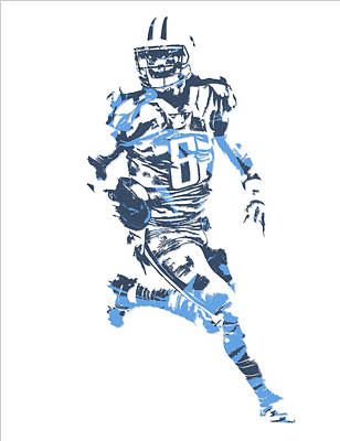 Marcus Mariota Tennessee Titans Pixel Art 11 Art Print