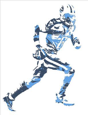 Marcus Mixed Media - Marcus Mariota Tennessee Titans Pixel Art 13 by Joe Hamilton