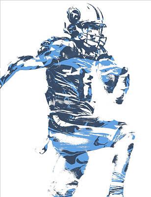 Marcus Mariota Tennessee Titans Pixel Art 22 Art Print