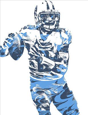 Mixed Media - Marcus Mariota Tennessee Titans Pixel Art 24 by Joe Hamilton