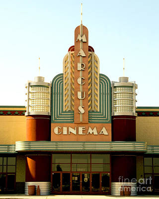 Photograph - Marcus Renaissance Cinema, Racine Wisconsin  by Ricky L Jones