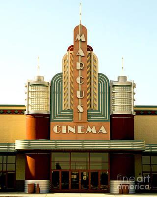 Photograph - Marcus Renaissance Cinema, Racine Wisconsin  by Ricky L Jones