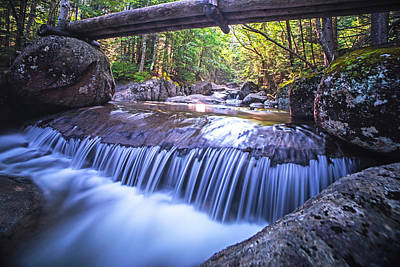 Photograph - Marcy Trail Waterfaill High Water Bridge Adirondacks New York by Toby McGuire