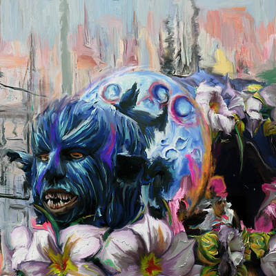 New Orleans Oil Painting - Mardi Gras 236 1 by Mawra Tahreem