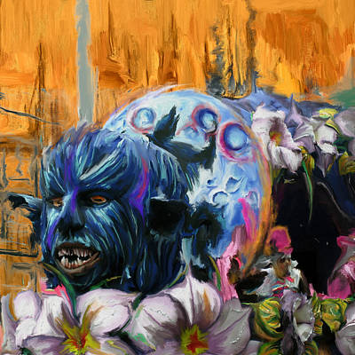 New Orleans Oil Painting - Mardi Gras 236 2 by Mawra Tahreem
