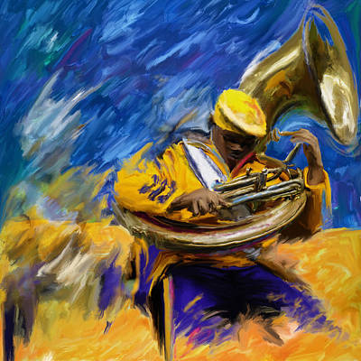 New Orleans Oil Painting - Mardi Gras 240 1 by Mawra Tahreem